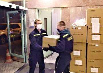 Úvodní fotka ke zprávě: Covid-19 a rozvoz ochranných prostředků (1. technická pomoc)