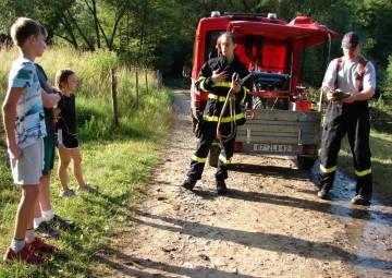 Úvodní fotka ke zprávě: Ukázka na táboře v Březůvkách